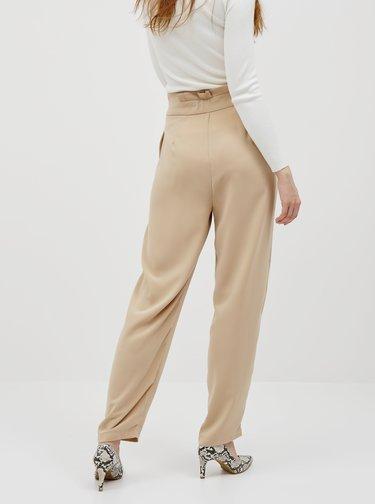 Béžové nohavice VERO MODA Jenni