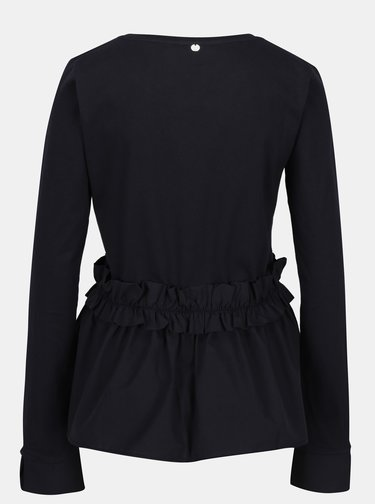Bluza neagra cu volane - Rich & Royal