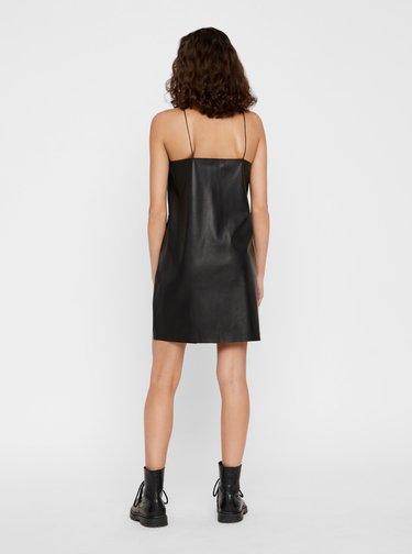 Černé koženkové šaty Noisy May Milla