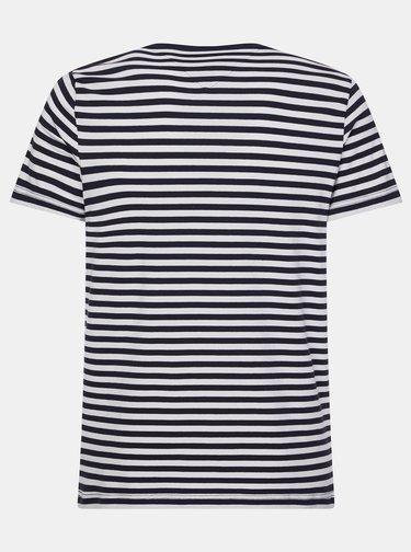 Bílo-černé pánské pruhované basic tričko Tommy Hilfiger
