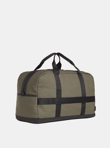 Tmavozelená cestovná taška Tommy Hilfiger