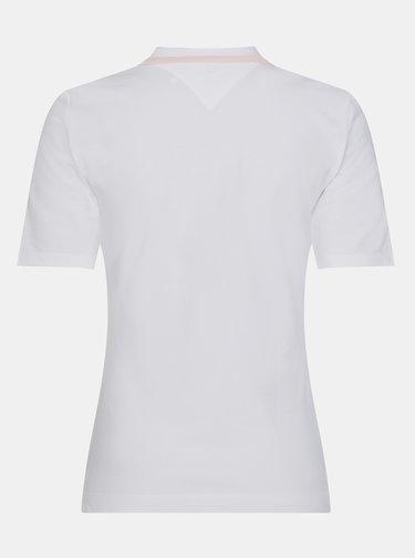 Bílé dámské polo tričko Tommy Hilfiger