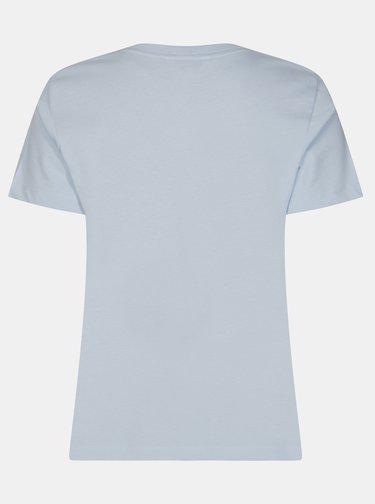 Svetlomodré dámske tričko s potlačou Tommy Hilfiger
