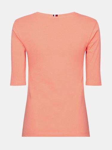 Marhuľové dámske basic tričko Tommy Hilfiger
