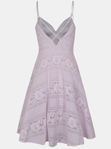 Světle fialové krajkové šaty Chi Chi London Nadina