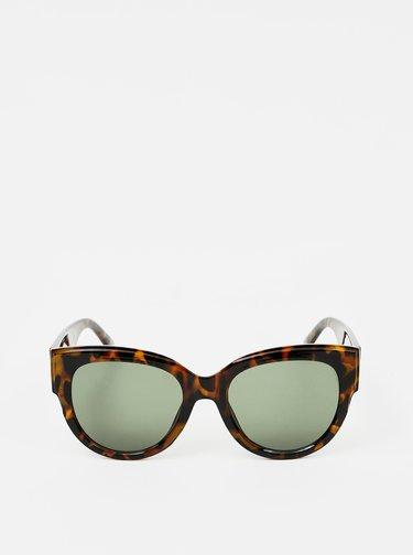 Hnědé vzorované sluneční brýle Pieces Narika