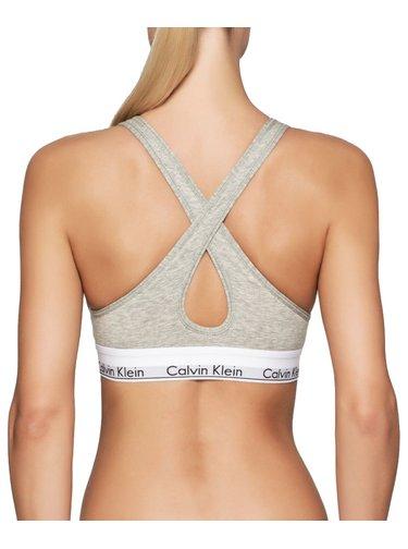 Calvin Klein šedá podprsenka Lift
