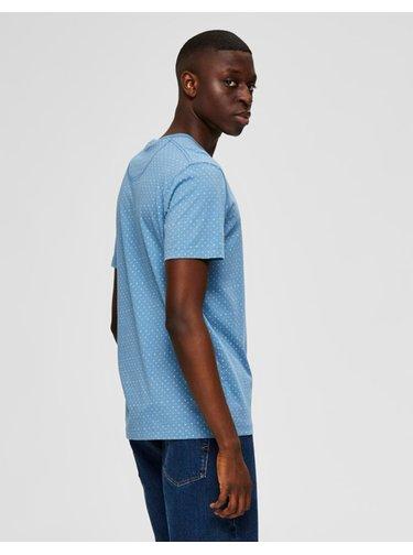 Modré vzorované tričko Selected Homme Brawley