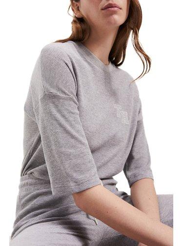 Tommy Hilfiger šedé tričko TEE 1/2 SLV
