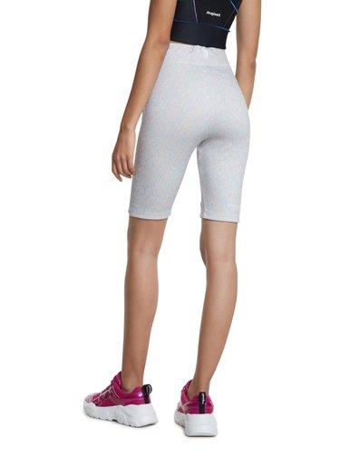 Desigual bílé sportovní kraťasy Cycling Legging Studio White