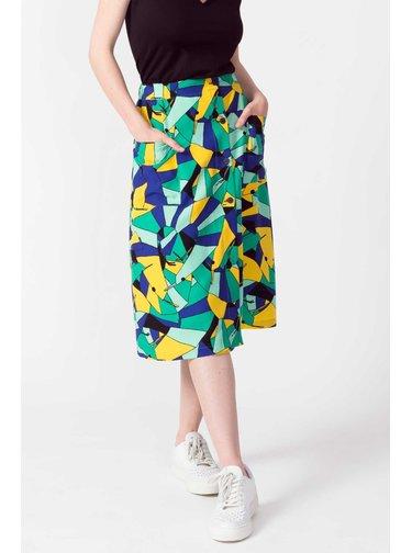 SkunkFunk barevná midi sukně Ximena