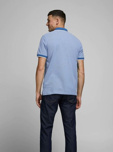 Modré polo tričko Jack & Jones Bluwin