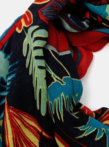 Červeno-modrá kvetovaná šatka Pieces Namara