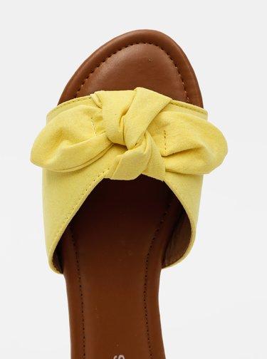 Žlté šľapky v semišovej úprave Pieces Nina