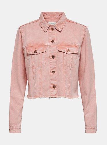 Ružová rifľová bunda Jacqueline de Yong Rosa