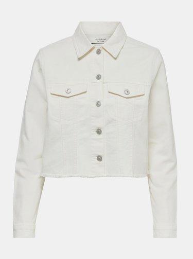 Biela rifľová bunda Jacqueline de Yong Rosa