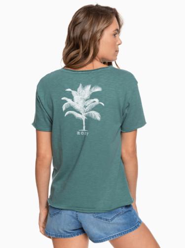 Zelené tričko s potlačou Roxy