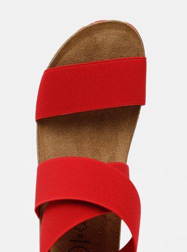 Červené dámske sandálky OJJU