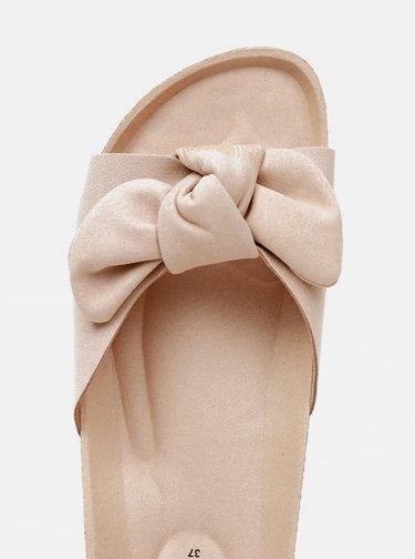 Světle růžové dámské pantofle v semišové úpravě OJJU