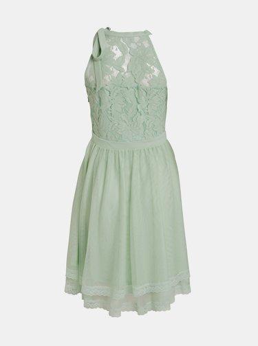 Světle zelené krajkové šaty VILA Zinna