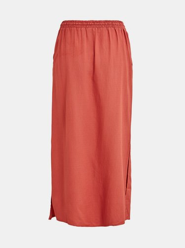 Červená maxi sukňa VILA Kaluna