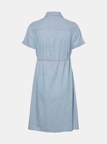 Světle modré těhotenské košilové šaty Mama.licious Xandra
