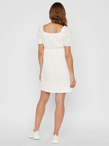 Bílé těhotenské šaty s madeirou Mama.licious Molly