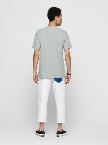 Světle modré tričko ONLY & SONS Skai