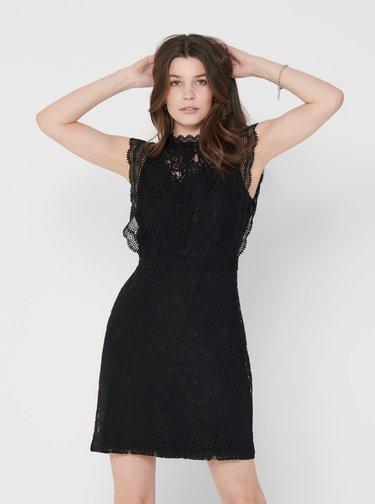 Čierne krajkové šaty ONLY Karo