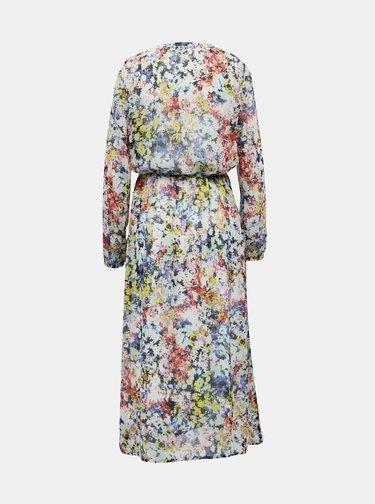 Modro-biele kvetované maxišaty Jacqueline de Yong Trevina