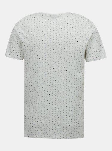 Bílé vzorované tričko Jack & Jones Jackson