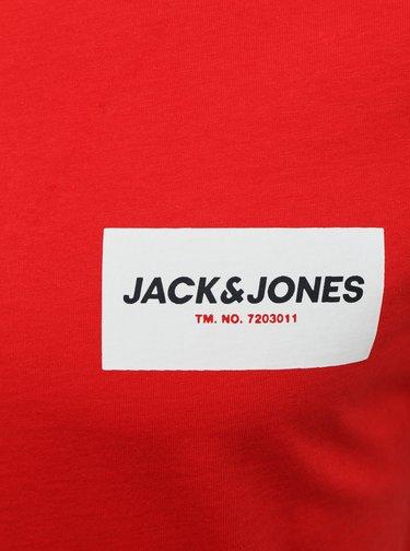 Červené tričko Jack & Jones Waka