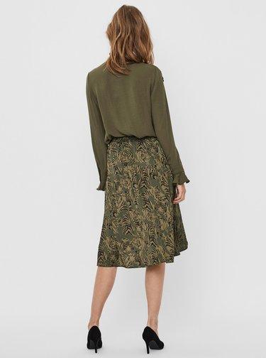 Zelená vzorovaná sukňa VERO MODA Kate