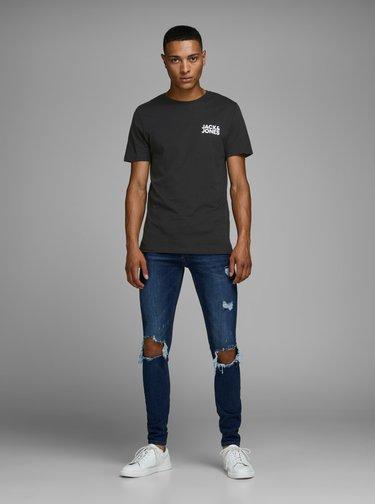Čierne tričko s potlačou Jack & Jones Corp