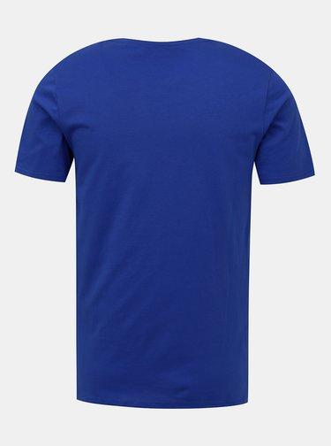Modré tričko s potlačou Jack & Jones Corp
