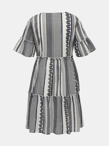 Šedé vzorované volné šaty VILA Hanna