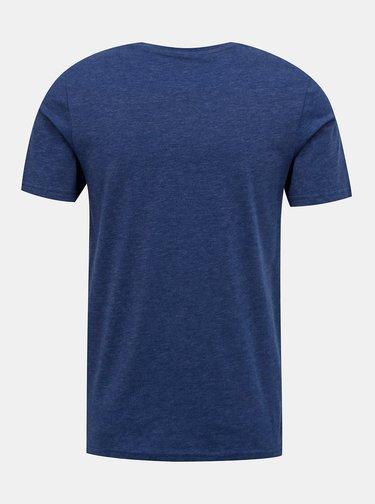 Modré tričko Jack & Jones Carlos