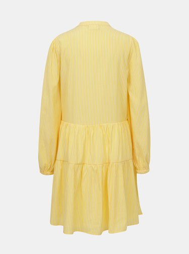 Žluté pruhované volné šaty VILA Binni