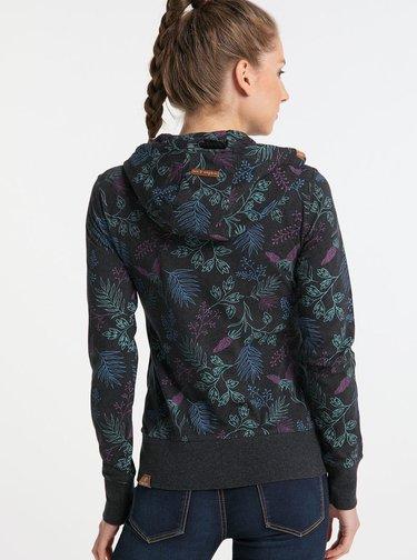 Čierna dámska kvetovaná mikina Ragwear Paya