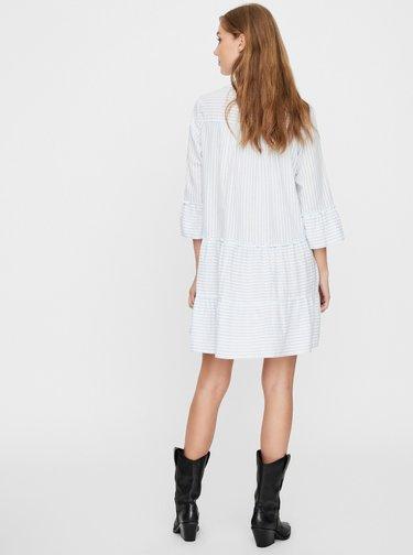 Bílé pruhované volné šaty VERO MODA Heli