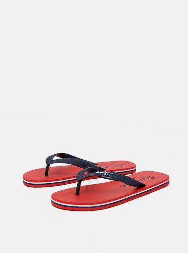 Červeno-modré pánské žabky Pepe Jeans