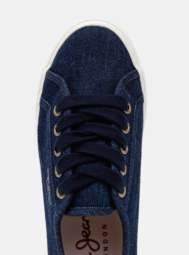 Tmavě modré dámské tenisky Pepe Jeans