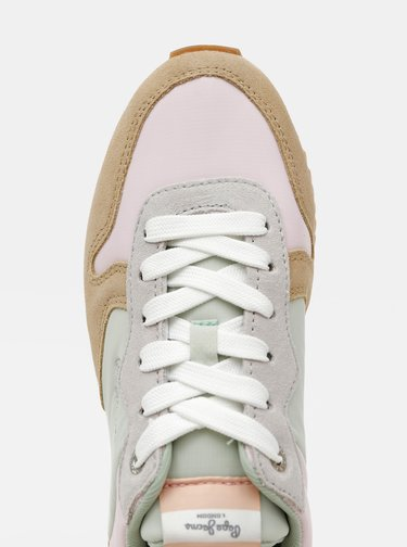 Svetlohnedé dámske semišové tenisky Pepe Jeans