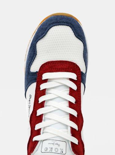 Modro-bílé dámské tenisky s koženými detaily Pepe Jeans