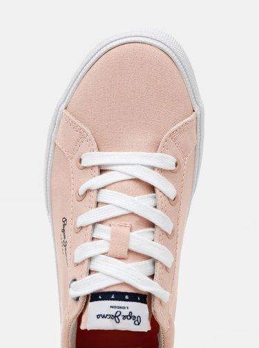 Růžové dámské tenisky Pepe Jeans