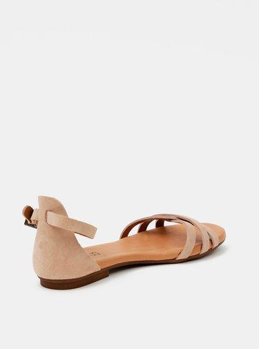 Béžové semišové sandále OJJU