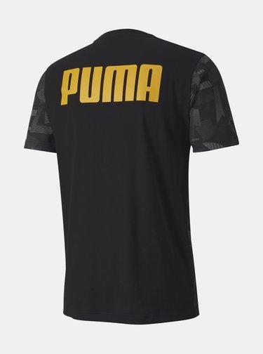 Čierne pánske vzorované tričko Puma