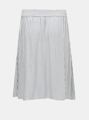 Bielo-modrá pruhovaná sukňa ONLY CARMAKOMA Isa
