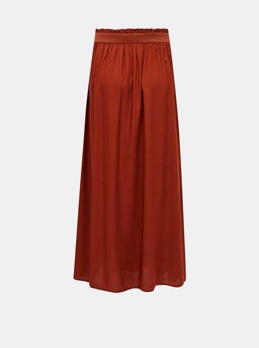 Hnedá maxi sukňa ONLY
