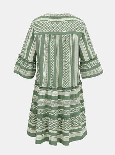 Zelené vzorované voľné šaty VERO MODA Ditche